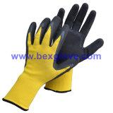Joli gant de jardin, fini de mousse, gant de travail de latex