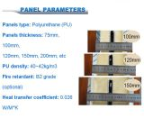 卸し売りポリウレタン絶縁体アルミニウムPU製造業者によって絶縁されるサンドイッチ冷蔵室のパネル