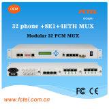 Multiplexer ótico Multi-Service modular de 32*Pots +8e1+4*100m