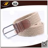Correas elásticos de la tela de cintura de la correa del color puro trenzado ocasional del poliester