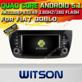 Carro DVD GPS do Android 5.1 de Witson para a AUTORIZAÇÃO Doblo com sustentação do Internet DVR da ROM WiFi 3G do chipset 1080P 16g (A5533)