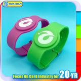 waterpark를 위한 13.56MHz MIFARE Classic 1K Silicone RFID Wristband
