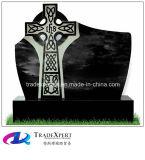 Надгробная плита гранита конструкции Shanxi типа Ирландии черная перекрестная