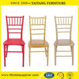 Empilar la silla de aluminio de Chiavari del hierro de la boda