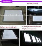 Frameless LEDを広告する細く、水晶ライトボックス