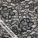 Tela de nylon do laço do algodão vívido e encantador do projeto