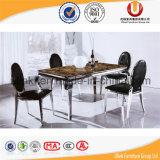 Tabela de mármore superior típica simples da sala de jantar (UL-DC851)