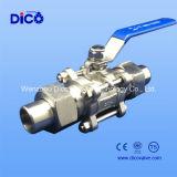 Шариковый клапан сварное соединение встык 3PC с фиксируя ручкой