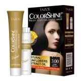 Teinture de cheveu de Colorshine de soins capillaires de Tazol (Brown foncé) (50ml+50ml)