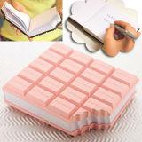 Cahier mou de couverture de silicium formé par chocolat en plastique de qualité (BK-080)