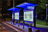 Steel di acciaio inossidabile Bus Shelter con il LED Light Box (HS-BS-E024)