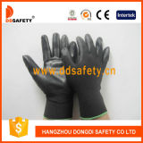 Ddsafety 2017 13 черноты вкладыша датчика перчаток PU черной Nylon Coated на ладони и персте