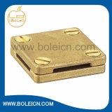 Guarnición cuadrada de cobre amarillo de la energía de la abrazadera de la cinta de la aleación de cobre hecha en China