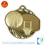 Fabrik-Preis-Basketball-Messingmedaille mit höhlen heraus aus