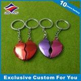 Porte-clés rouge de coeur d'impression de trousseau de clés fait sur commande acrylique de forme