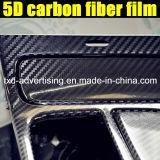 pellicola dell'involucro del vinile della fibra del carbonio del rullo 5D dell'autoadesivo di 1.52X20m