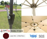 Big Aluminum Frame 2.7m Dia MID-Pole Garden Umbrella