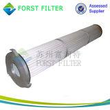 Cartuccia pieghettata di filtro dell'aria di industria di cemento di Forst