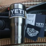 Copo por atacado do Yeti do Tumbler do Rambler do aço inoxidável dos refrigeradores 30oz 20oz da caneca do Yeti da fábrica para carros