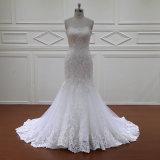 Robes de mariage nuptiales de long lacet de cru