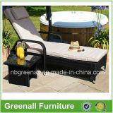 Chaise longue solaire ajustable / Rattan Garden Furniture / Rattan Chaise Lounge