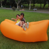 Grille Portable Polyester Tissu Camping Lounger Sofa Air Rempli Bed Couch extérieure gonflable Air