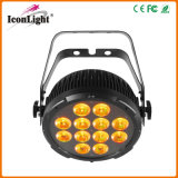 IGUALDAD del poder más elevado 12X15W 6in1 RGBWA+UV LED para la iluminación del jardín