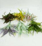 인공 플라스틱 또는 푸른 잎 풀이 나게 하십시오로 7개의 줄기 (XF90195)