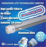 Starkes Aluminiumgefäß der beleuchtung-24hrs 18W 24W 30W 40W T8 LED