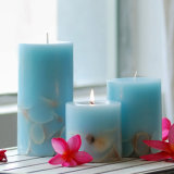 装飾的な香料入りの大豆の柱の蝋燭