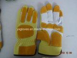 Schwein-lederner Handschuh-Industrieller Handschuh-Geschützter Handschuh-Handschuh-Arbeitender lederner Handschuh