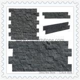 Pietra nera e grigia della coltura per il rivestimento della parete