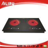 Metallo Housing con Full Touching Costruire-in Double Burner Induction Cooker