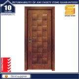Porte en bois simple de chambre de hôtel de panneau en bois intérieur de forces de défense principale