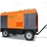 Compresor de aire portable refrescado aire del tornillo del mecanismo impulsor diesel de 185 Cfm