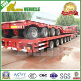 40FT Three Axles Transport Heavy Machines Semi-reboque de cama baixa
