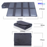28W DCおよびUSBの二重出力iPad、PDAの携帯電話、ビデオ・カメラの屋外充満装置(FSC-28B)のためのFoldable太陽電池パネルの充電器