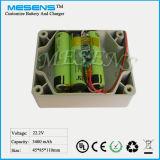 25.2V 3400mAh nachladbare Lithium-Batterie mit Gehäuse/Gehäuse