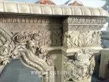 Sculpture de marbre en cheminée de nature pour la décoration d'intérieur