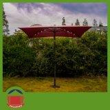 2X2m quadratischer LED heller Garten-Regenschirm