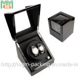 Dobadoura do relógio do motor luxuoso ou caixa de relógio de madeira elétrica