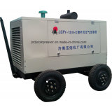 携帯用ディーゼル駆動機構回転式ねじ空気圧縮機
