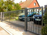Driverwayのための黒いPowder Coated Iron Fence Gate