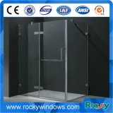 Forma del Diamante Diseño La ducha de vidrio sin marco de habitaciones