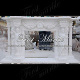 Camino bianco Mfp-1030 di Carrara del camino del camino di pietra del camino di marmo del granito