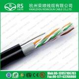 Cable de Ethernet CAT6 impermeable con el mensajero de acero