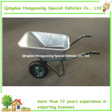 Duurzame Double Wheels Wheelbarrow met 75L Galvanized Tray (WB6432)