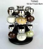 Bottiglia di vetro manuale con il laminatoio del sale/smerigliatrice del sale/smerigliatrice della spezia/smerigliatrice di pepe/laminatoio di pepe