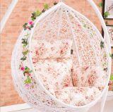 옥외 정원 가구 백색 합금 프레임 그네 의자 창조적인 디자인