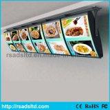 Scheda superiore del menu della casella chiara del LED